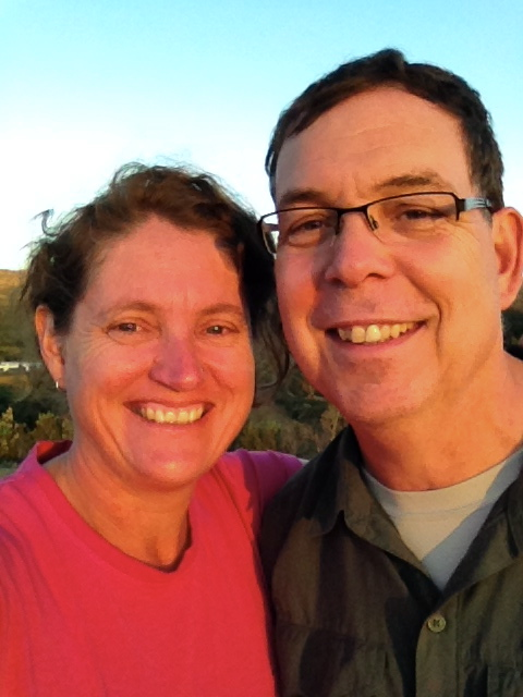 Selfie of us enjoying the sunset